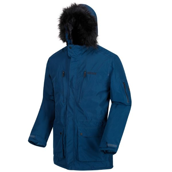 Men's Salinger Waterproof Insulated Parka Jacket Blue Wing